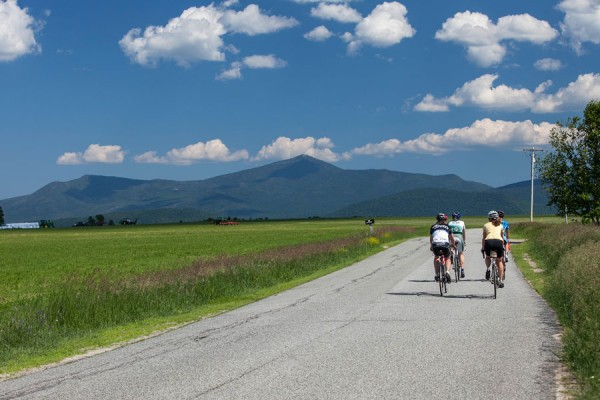 Cyclists-head-toward-Whiteface-Mountain