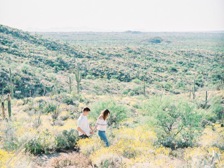 Saguaro National Park Engagement Shoot