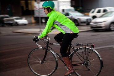 Showers Pass Hi-Vis cycling jacket