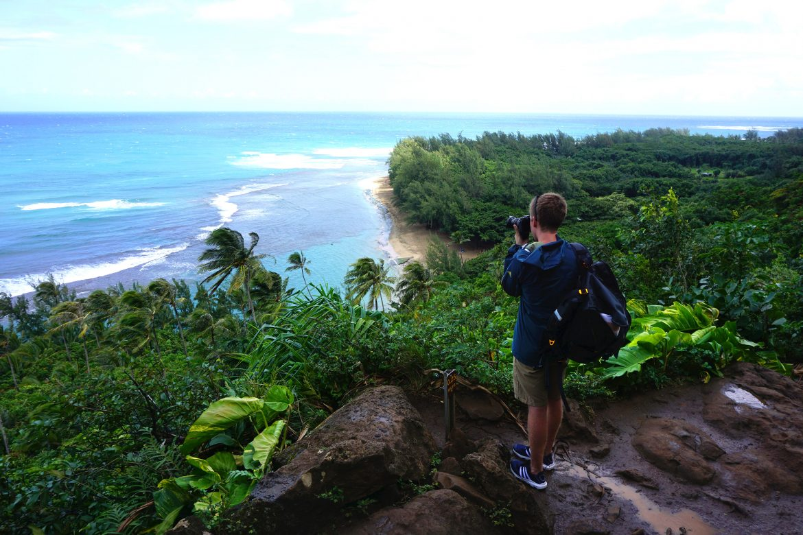 Hiking with the Adidas Climacool water shoes on Kauai