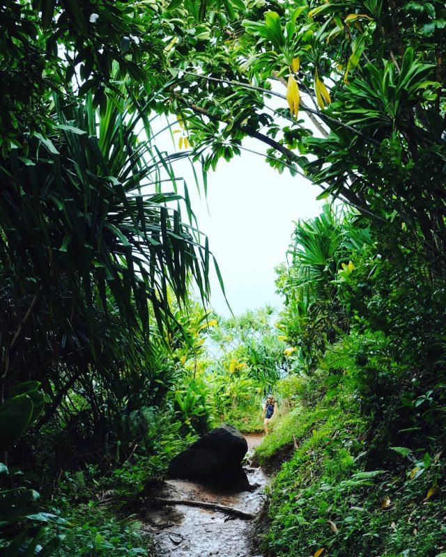 Mile 1 of the Napali coast trail