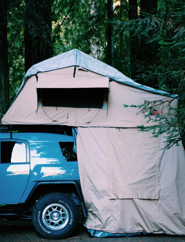 Tepui roof-top tent camping