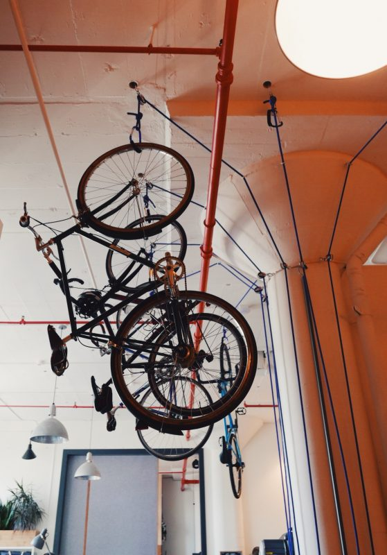Ceiling bike rack gearminded.com