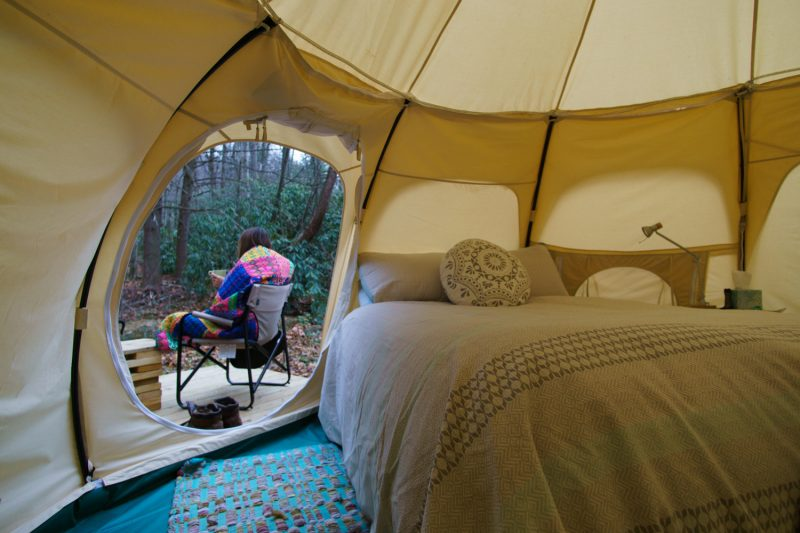 Yurt camping Gearminded.com