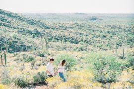 Saguaro National Park Engagement Shoot