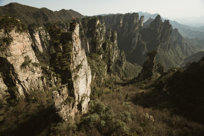 Beijing Belly (5.11a), towering above the Qingfeng Valley.