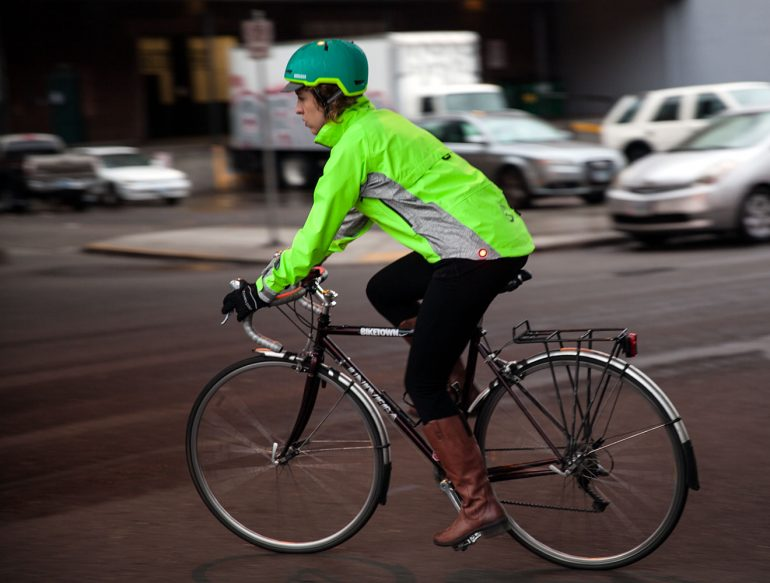 Showers Pass Hi-Vis cycling jacket
