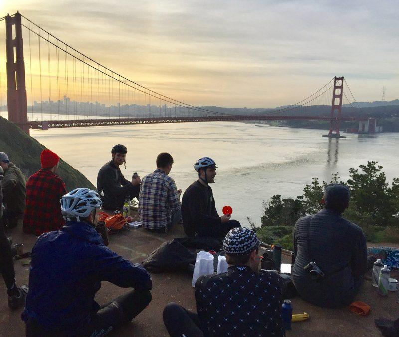 Hawk Hill Ride at sunset
