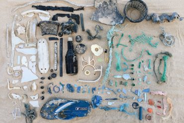 Ocean plastic debris from beaches on Oahu