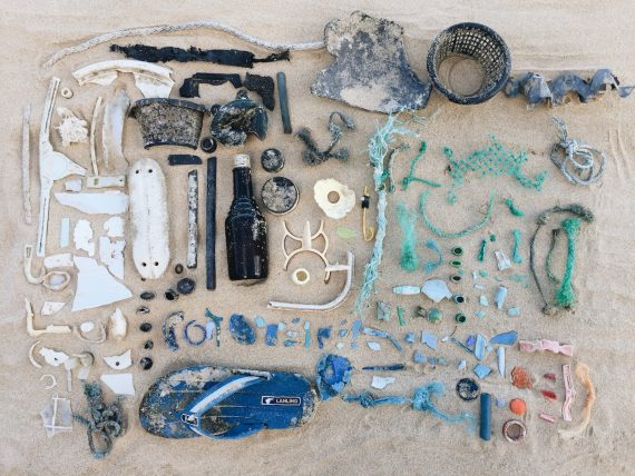 Ocean plastic debris from beaches on Oahu