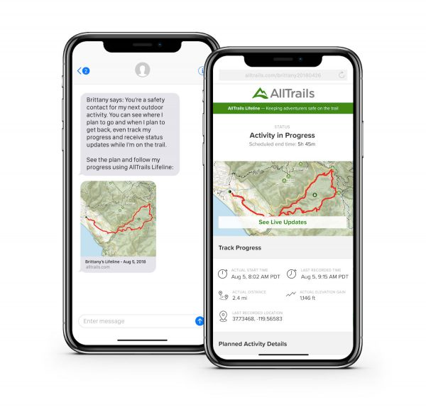ALLTrails Outdoors Safety App